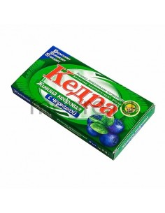 Kedra chewing gum with cedar resin and sea buckthorn - clone