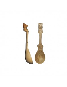 Cedar pine spoon (bear) 11cm